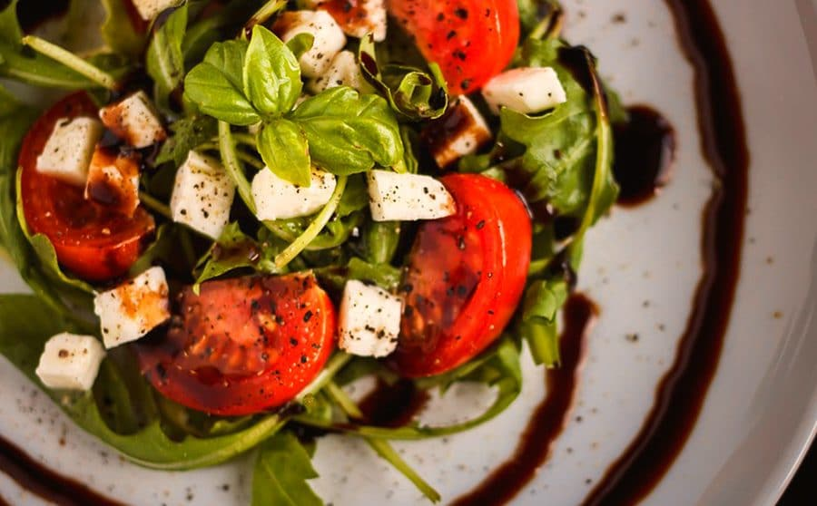 pesto and balsamic dressing